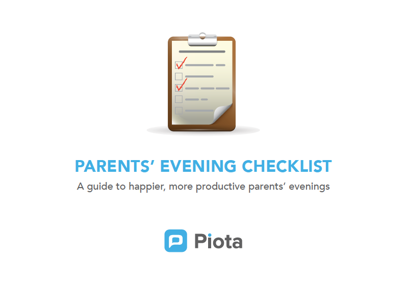 Parents Evening Checklist from Piota Apps for Schools